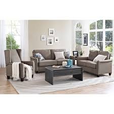 gray reclining sofa better homes and gardens grayson wingback pushback recliner