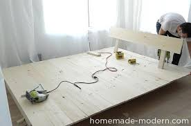 Build Platform Bed Storage Underneath by Homemade Modern Ep89 Platform Bed