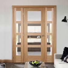 oak easi frame room divider doors system single shaker 4 pane