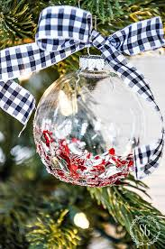 broken glass glitter ornaments stonegable