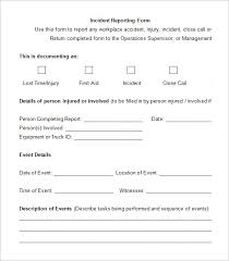 incident report register template 13 employee incident report templates free pdf word documents