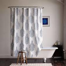 Grey Bathroom Curtains Blue Fabric Shower Curtains Gray Floor Pale White Curtain Soft