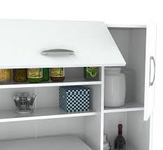 white kitchen storage cabinet homeroots 66 1 contemporary white melamine and engineered wood kitchen storage cabinet 249840