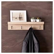 liza wall shelf with hooks oak finish target