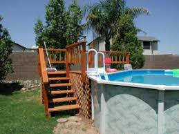 above ground pool deck kits above ground pool assembly
