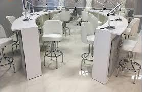 Nail Bar Table Seats Salon White Bar Chairs Manicure Nail Bar Tables