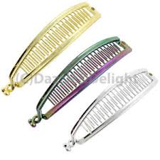 banana clip for hair banana clip hair clip hair comb hair slide metallic banana
