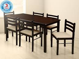 buy augusta six seater dining table cappucino online