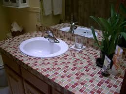 Cheap Bathroom Countertop Ideas Mosaic Bathroom Countertop Ideas Home Decor
