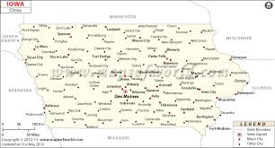 map of iowa towns cities in iowa iowa cities map