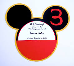 disney u0027s mickey mouse clubhouse head invitation with