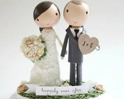 custom wedding cake toppers wedding cake toppers happy handmade by lollipopworkshop