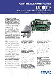 volvo penta kad 300 dp marine diesel propulsion engine by