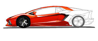 lamborghini aventador side view ms paint colored 2 by ant787 on