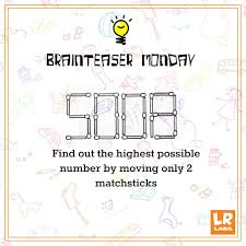 brainteaser the matchstick puzzle logicroots
