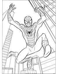 coloring pages decorative spiderman coloring pages