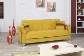 metro life sofa bed in mustard fabric by casamode