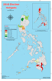 Philippine Map 2010 Philippine Election Hotspots Novicecartography197