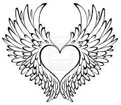 simple wings drawing free best simple wings