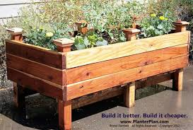 beautiful raised planter boxes plans raised planter box plans