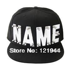 shop mirror acrylic letters hat custom name caps hip hop