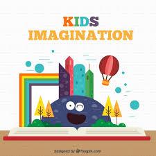 colorful kids imagination free vectors ui download