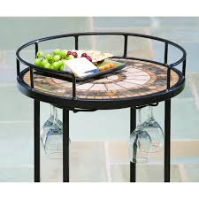 Mosaic Patio Furniture Alfresco Home Compass Mosaic Outdoor Serving Cart Ultimate Patio