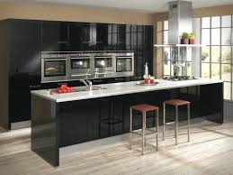 Black Kitchen Cabinets Design Ideas Kitchen Modern White And Black Kitchens Intended For Residence