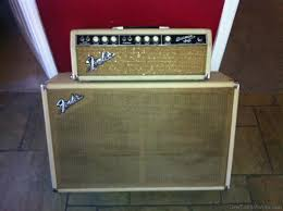 vintage fender 2x12 cabinet the steel guitar forum view topic 1964 blonde fender bassman
