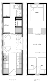 Two Family Floor Plans by 8x28 Tiny House For A Family Of Four Two Cribs A Twin And A