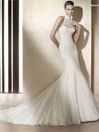 high neck halter wedding dress fashionable high neck halter dropped waist mermaid lace tulle
