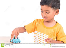 kid play car cute little asian boy child kid preschooler playing toy car stock