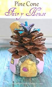 salt dough pine cone fairy houses u2013 the pinterested parent