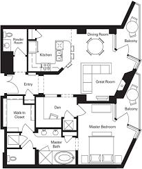 Waterfront Floor Plans Bridgeview Condominiums At Tempe Town Lake 1 Bedroom Options