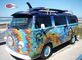 green volkswagen van 10 iconic hippie vans photos