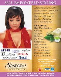 contact us u2014 sondrea u0027s signature styles salon and spa