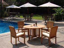 Stackable Patio Furniture Set - wholesaleteak 5 piece grade a teak dining set with 48