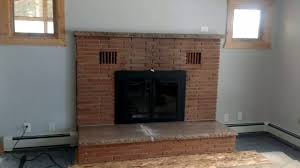 remodeling old brick fireplace youtube