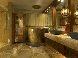 Mirrors On The Ceiling by Gold Nuance Interior Design With Stone Combined With Gold Floor
