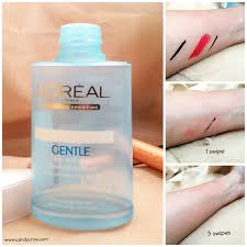 loreal gentle lip and eye makeup remover review candy crow