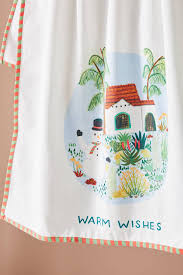 warm wishes dish towel anthropologie