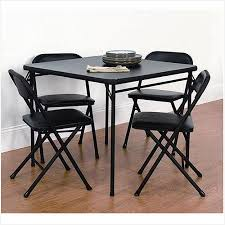 5 piece card table set mainstays 5 piece card table and chair set black mainstays 5 piece