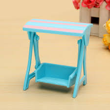 Beach Chair Umbrella Set Miniatures Furniture Set Diy Toy House Beach Umbrella Table Chair