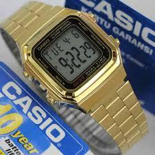 Jam Tangan Casio Gold jam tangan casio warna gold a 178 original untuk wanita