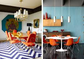 Retro Dining Room Best Orange Dining Room Chairs Gallery Home Design Ideas