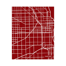 Red Line Map Chicago by Chicago City Map Black Jennasue Maps Touch Of Modern