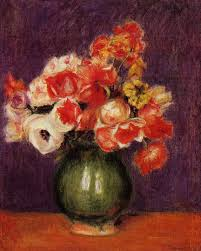 Flowers In A Vase Images Flowers In A Vase 1901 Pierre Auguste Renoir Wikiart Org