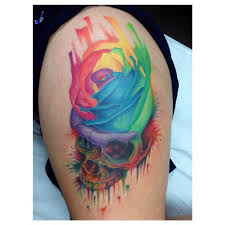 11 amazing rainbow rose tattoos