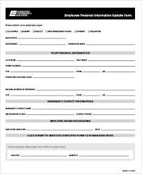 employee personal information form template beautifuel me