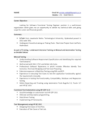 Sample Resume For 2 Years Experience In Software Testing by 01 Testing Fresher Resume